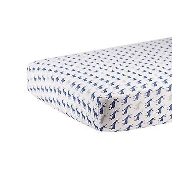 الأزرق الغزلان القطن موسلين سرير ورقة