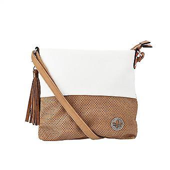 Rieker H1342-80 Women's Fashion Cross-body Bag In White/tan