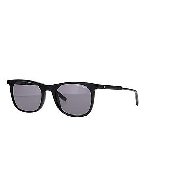 Montblanc MB0007S 001 Svart/Grå Solbriller