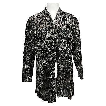 Susan Graver Maglione donna Petite Occasion Knit Cardigan & Black A384259