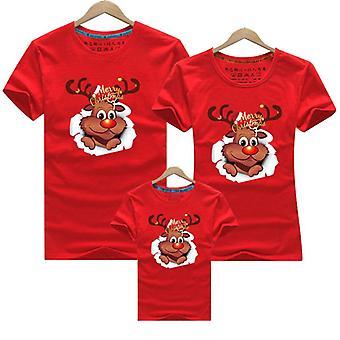 בגדי משפחה שמחים לחג המולד, אמא בייבי חולצת טריקו