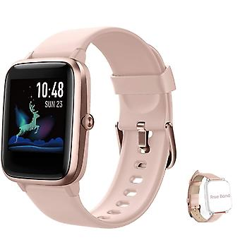 Montre intelligente pour unisexe Smart Watch Sport Watch IP68 Waterproof Activity Tracker pour Android iOS-Pink