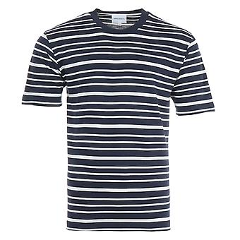 Norse Projects Johannes Mariner Stripe T-Shirt - Navy