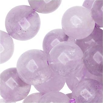 Dakota Stones Gemstone Beads, Lavender Amethyst, Round 8mm, Strand 8 Inch