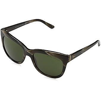 Ralph Lauren 0RL81583471 Sunglasses, Brown (Brown Horn/Dark Green), 54 Woman