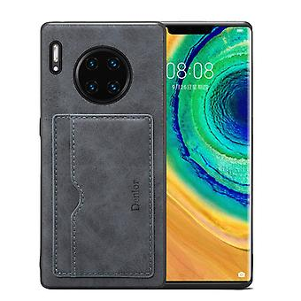 Wallet leather case card slot for samsung s10e retro gray on127