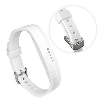 Tuff-luv - TPU verstelbare silicone band voor fit bit flex 2 - wit