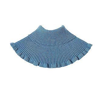 ליידי צעיף סריגה חולצה נתיקת צווארון מזויף אלסטי צווארון שווא כחול