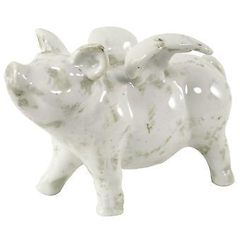 Kleines Keramik-Flugschwein, 18,5 cm