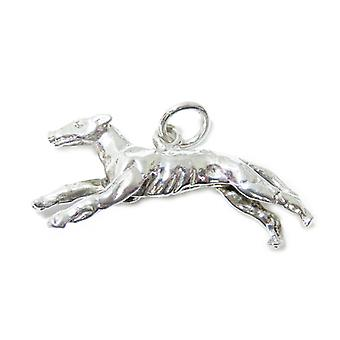 Greyhound Sterling Silver Charm .925 X 1 Racing Dogs And Greyhounds Charms - 15397