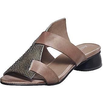 Antelope Womens Antelope Leather Open Toe Casual Mule Sandals