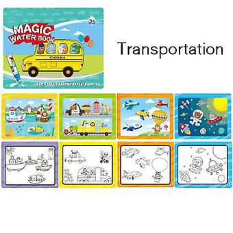 Children's Reusable Picture Book Graffiti Water Painting Book