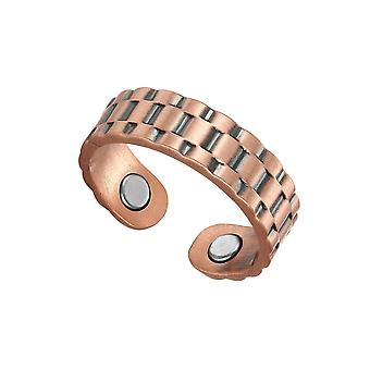 Magnetic 99.9% Copper Magnetic Ring Red Copper Opening Magnet Ring Jewelry