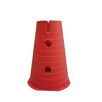 Cones de tráfego plástico, cones de atividade esportiva multiuso para crianças 2 pacotes (vermelho)