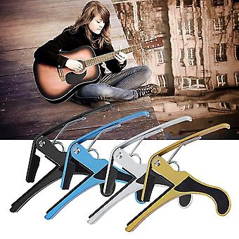 Metal Quick Change Tune Clamp Trigger til Acoustic Electric Classic Guitar