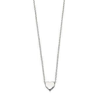 Elements Sterling Silver Ladies Single Heart Collier de longueur 42-44cm