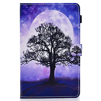 Case For Samsung Galaxy Tab S6 Lite Cover With Auto Sleep/wake Pattern Magnetic - Tree