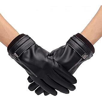 Men's Warm Leather Gloves Touchscreen Texting For Winter Outdoor