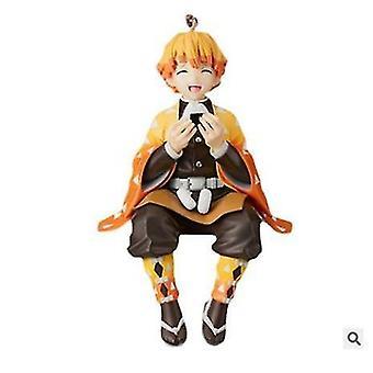 10cm Chokonose الرقم شيطان القاتل أنيمي الشكل كامادو Tanjirou العمل الرقم Kimetsu (البرتقالي)