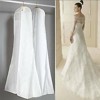 שמלת כלה גדולה במיוחד לכסות שמלת כלה רוכסן שקית אחסון כיסוי לבן