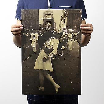 Aikakauslehdet voitto suudella vintage kraft paperi klassinen juliste kotiin / koulun toimiston sisustus