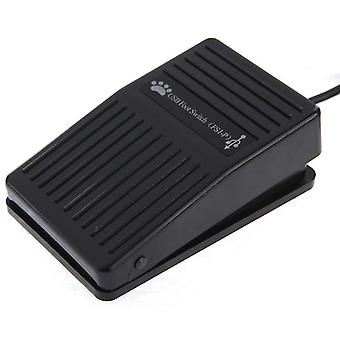 USB Foot Pedal Control Switch Game Pad Keyboard Adapter for Computer(Black)