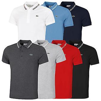 Lacoste Hombres 2021 Sport Contrast Accent Camiseta Polo Ligera algodón