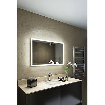 Máquina de barbear RGB LED espelho de banheiro com almofada do desembaçador & sensor K8401hrgb