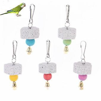 Papagei Mund Schleifen Stein Vogel Spielzeug Molar Stein Käfig Spielzeug Papagei Produkte, zufällige Farbe Lieferung