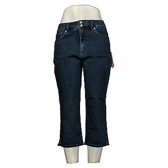 NYDJ Kvinners Petite Jeans Cool Embrace Skinny Side Slits - Lana Blue A377692