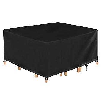 Cube Garden Furniture Covers Square Outdoor Table Cover, 420D Heavy Duty Rattan Waterproof Covers Windproof Table Protector Covers, Varios tamaños