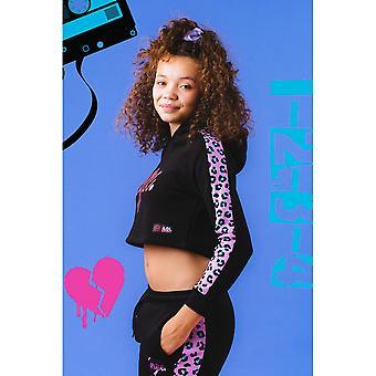 Hype Meisjes Leopard Diva LOL Surprise Cropped Hoodie
