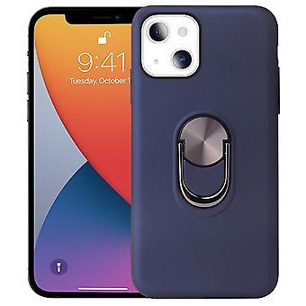 iPhone 13 Mini Hybrid Shell met vingerring - Donkerblauw