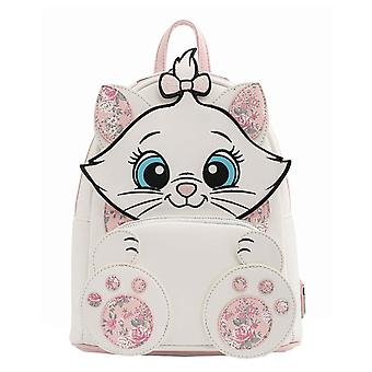 Loungefly Mini Backpack Marie Floral Footsy new Official Disney White