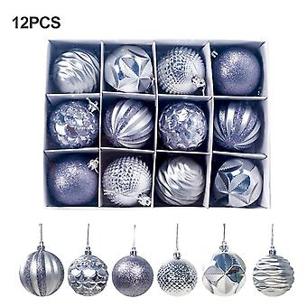 Gift Decoration Balls Pvc Christmas Balls 12 Piece Pack 6cm Window Hanging Home Pendant Decoration New Year Gift