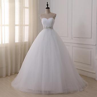 Real Wedding Dresses Vestidos De Novia Sweetheart Sweep Train Lace
