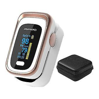 Pulsoksymetr palcowy cyfrowy pulsoksymetr opuszkami palców oled spo2 pr 8 godzin monitor snu oksymetr