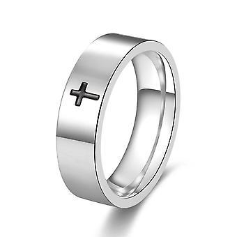 Herren Ringe Titan Stahl Einfache Kreuzung Personalisierter Schmuck