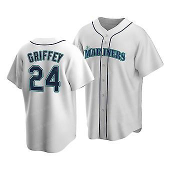 Men's Baseball Jersey Mariners #24 Ken Griffey Jr. Player Jersey Game Fans Sports Baseball Uniforms T-shirt Size S-xxxl