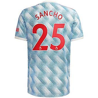Мужская футбольная майка Новый сезон Мнчестер 2021-2022 Юнайтед #25 Санчо Футбол Джерси Спортивные футболки S-xxl