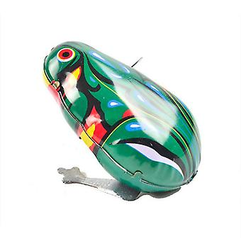 1pc Kinder Classic Soldier Winding Spielzeug Jumping Frog Classic Spielzeug