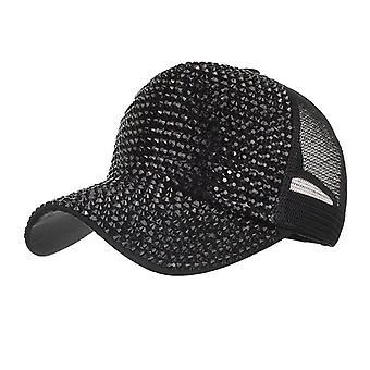 Rhinestone Hattar Kvinnlig Baseball Cap Bling Diamond Hat