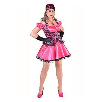 Vrouwen kostuums piraat dame roze
