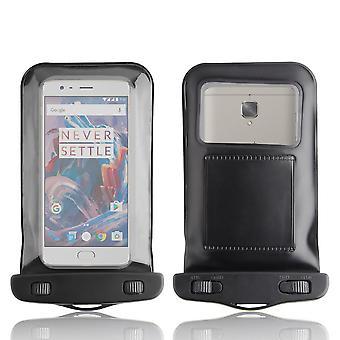 InventCase vedenpitävä Dustproof laukku Case Suojakotelo OnePlus 3T - musta