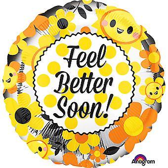 Anagram 18 Inch Feel Better Soon Circle Foil Balloon