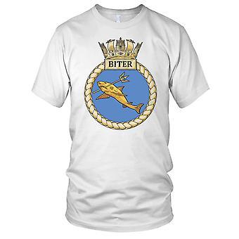 Royal Navy HMS Biter Mens T-Shirt