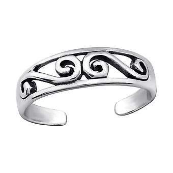 Patterned - 925 Sterling Silver Toe Rings - W27627x