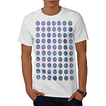 バレーボール活動的なスポーツの男性 WhiteT シャツ |Wellcoda