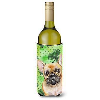 French Bulldog St Patrick's Wine Bottle Beverge Insulator Hugger