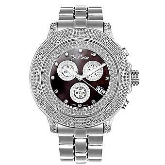 Joe Rodeo diamond men's watch - PILOT Silver 3.15 ctw